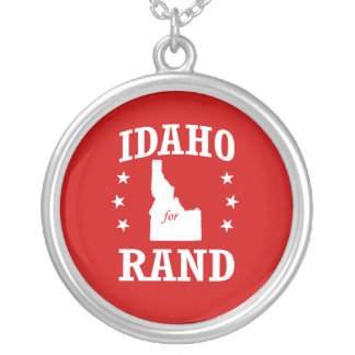 IDAHO FOR RAND PAUL ROUND PENDANT NECKLACE