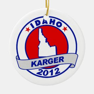 Idaho Fred Karger Christmas Tree Ornaments