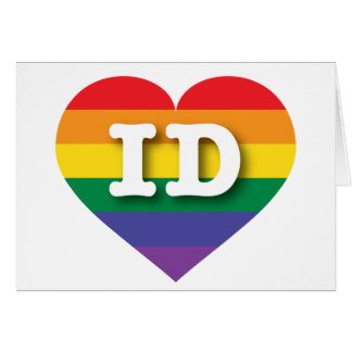 Idaho Gay Pride Rainbow Heart - Big Love Card