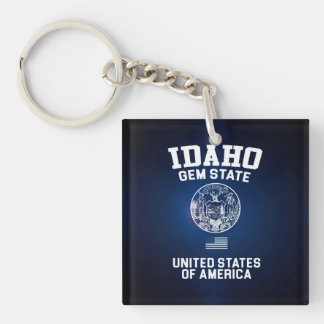 Idaho Gem State Key Ring
