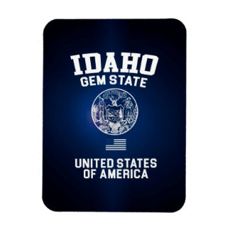 Idaho Gem State Rectangular Photo Magnet