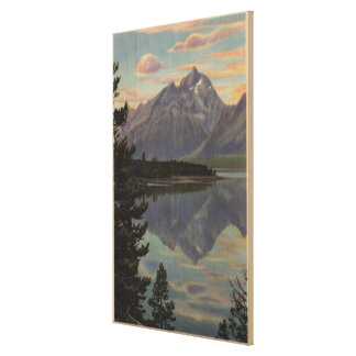 Idaho - Grand Teton Reflection on Jackson Lake Canvas Print