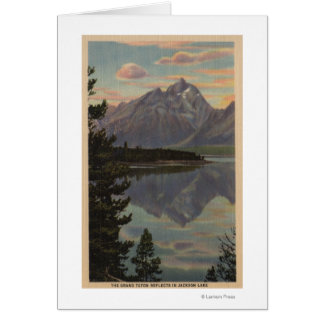Idaho - Grand Teton Reflection on Jackson Lake Card