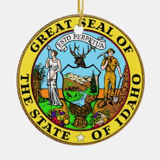 Idaho Great Seal Round Ceramic Decoration