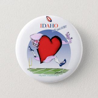 Idaho Head and Heart, tony fernandes 6 Cm Round Badge