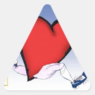 Idaho Head and Heart, tony fernandes Triangle Sticker