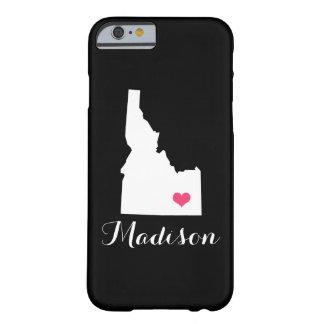 Idaho Heart Black Custom Monogram Barely There iPhone 6 Case
