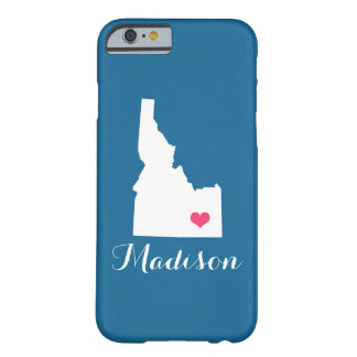 Idaho Heart Blue Custom Monogram Barely There iPhone 6 Case