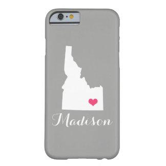 Idaho Heart Gray Custom Monogram Barely There iPhone 6 Case