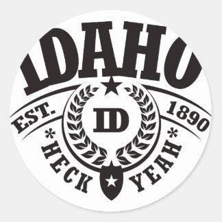 Idaho, Heck Yeah, Est. 1890 Classic Round Sticker