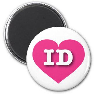Idaho Hot Pink Heart - Big Love 6 Cm Round Magnet