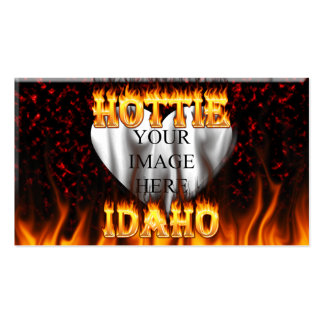 Idaho Hottie fire and red marble heart Pack Of Standard Business Cards