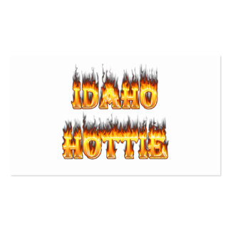 Idaho Hottie Fire Flames Pack Of Standard Business Cards