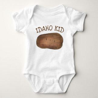 Idaho ID Kid Potato Brown Potatoes Spuds Baby Bodysuit