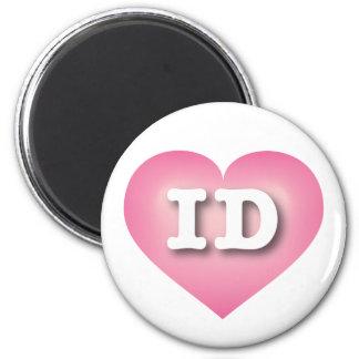 Idaho ID pink fade heart 6 Cm Round Magnet