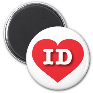 Idaho ID red heart 6 Cm Round Magnet
