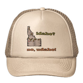 Idaho ID US Motto ~ Idaho ... No Udaho Mesh Hat