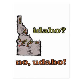 Idaho ID US Motto Idaho No Udaho Post Cards