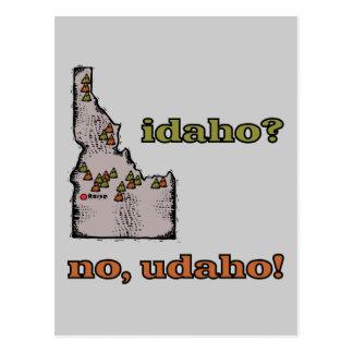 Idaho ID US Motto ~ Idaho ... No Udaho Postcard