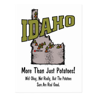Idaho ID US Motto More Than Just Potatoes Post Cards