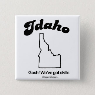 "IDAHO - ""IDAHO STATE MOTTO"" T-shirts and Gear 15 Cm Square Badge"