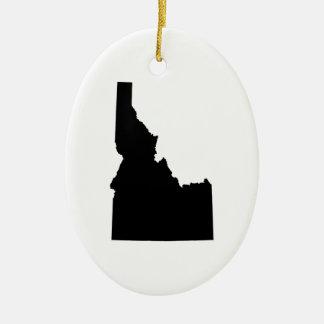 Idaho in Black Christmas Ornament