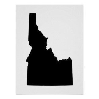 Idaho in Black Poster