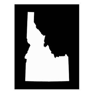 Idaho in White Postcard