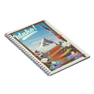 Idaho! landscape travel poster notebook
