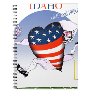 Idaho Loud and Proud, tony fernandes Spiral Notebook