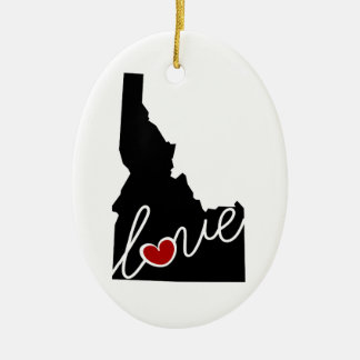 Idaho Love!  Gifts for ID Lovers Ceramic Oval Decoration