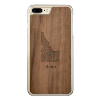 Idaho map carved iPhone 8 plus/7 plus case