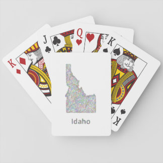 Idaho map playing cards