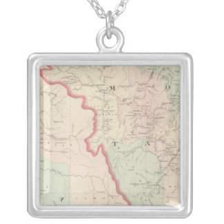 Idaho, Montana Western Portion Silver Plated Necklace