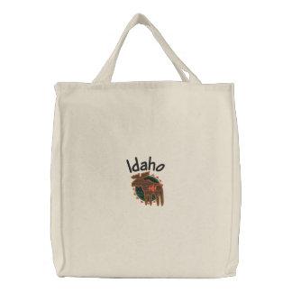 Idaho Moose Embroidered Bag