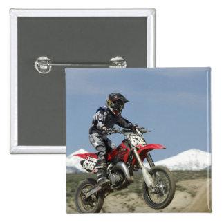 Idaho, Motocross Racing, Motorcycle Racing 15 Cm Square Badge