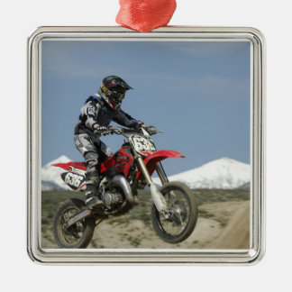 Idaho, Motocross Racing, Motorcycle Racing Silver-Colored Square Decoration