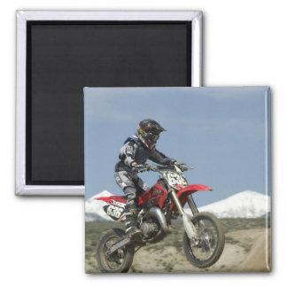 Idaho, Motocross Racing, Motorcycle Racing Square Magnet