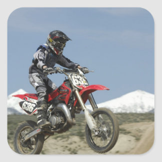 Idaho, Motocross Racing, Motorcycle Racing Square Sticker