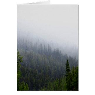 Idaho Mountain Fog Card