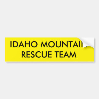 IDAHO MOUNTAIN RESCUE TEAM BUMPER STICKER