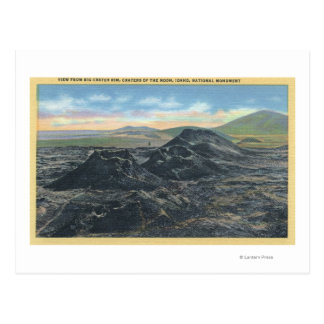 Idaho National Park Big Crater Rim Postcard