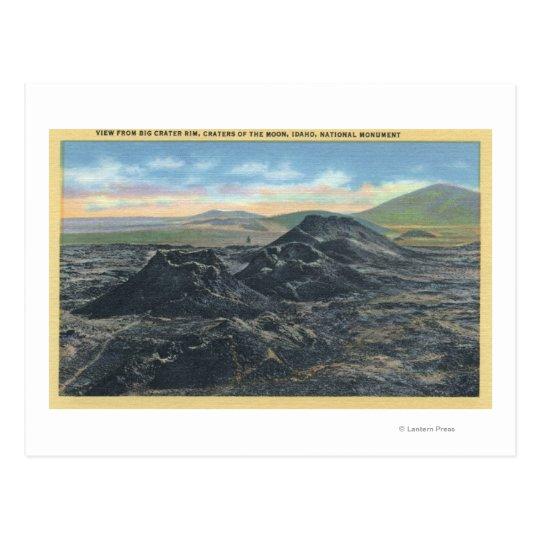 Idaho National Park Big Crater Rim Postcard