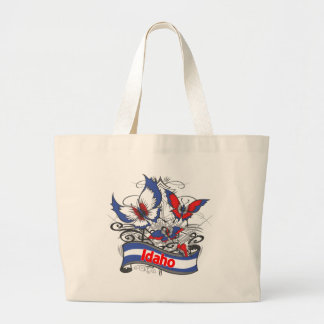 Idaho Patriotism Butterfly Tote Bag