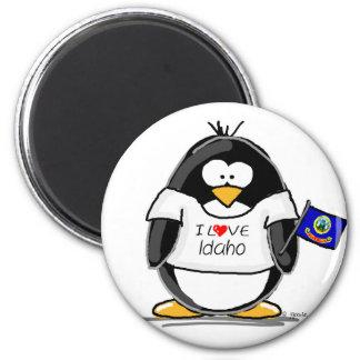 Idaho Penguin 6 Cm Round Magnet