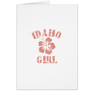 Idaho Pink Girl Greeting Card