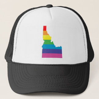 idaho pride. striped. trucker hat