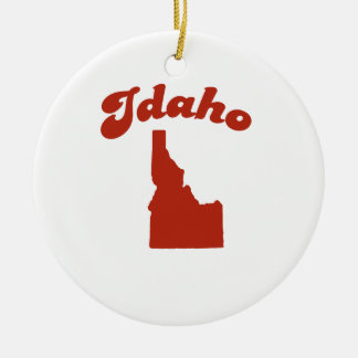 IDAHO Red State Christmas Ornaments