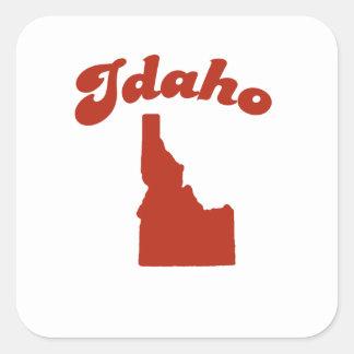 IDAHO Red State Square Sticker