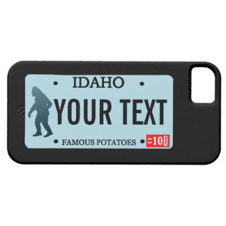 Idaho Sasquatch License Plate iPhone 5 Cover